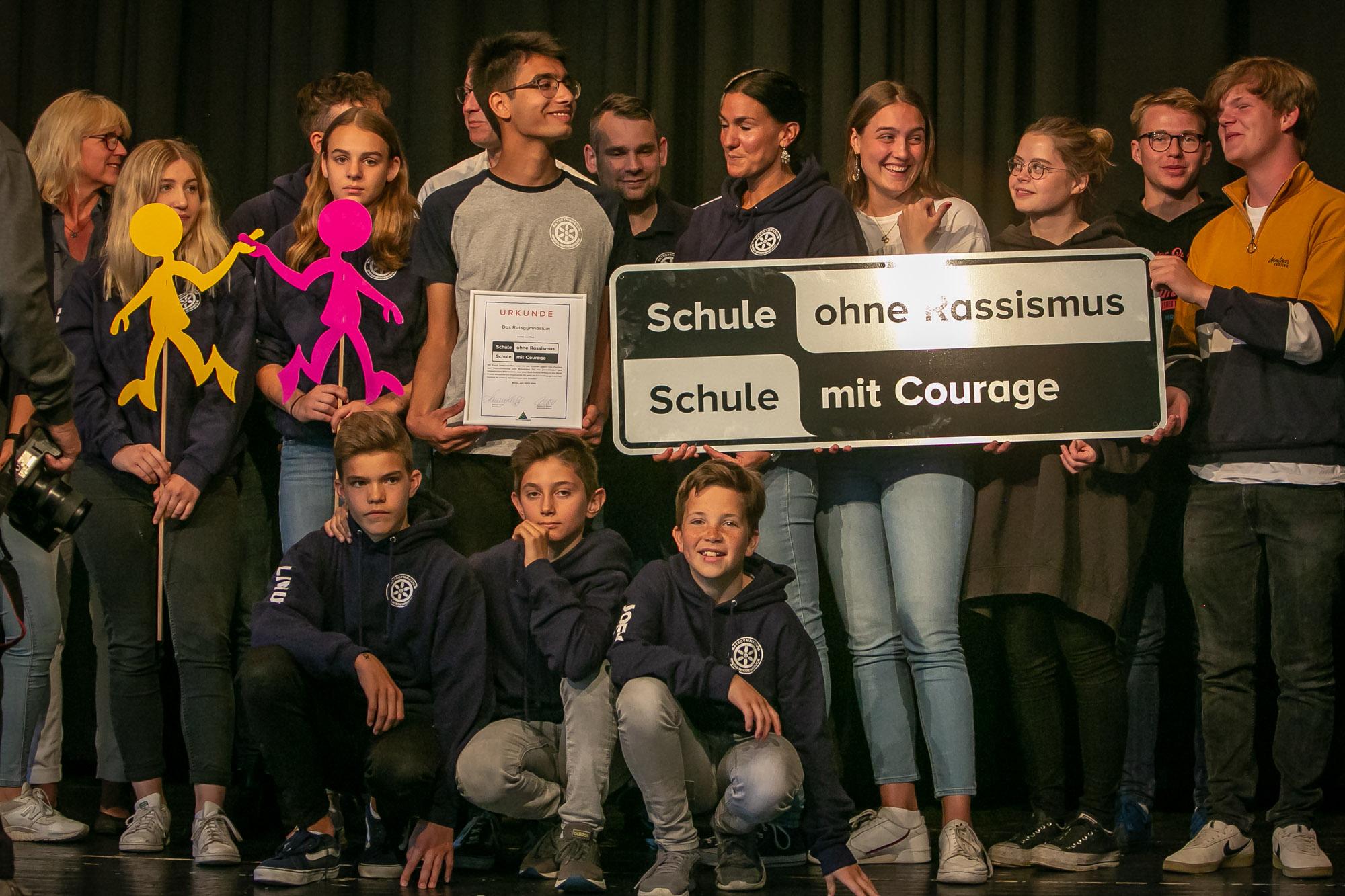 Ratsgymnasium Rheda Wiedenbrück Schule ohne Rassismus, Schule mit Courage